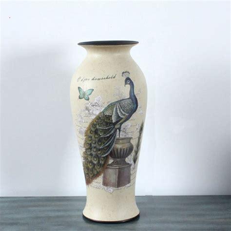 ceramic crafts for european classical antique vase vase peacock