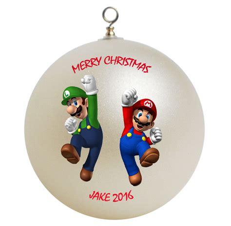 mario and luigi ornaments personalized mario luigi brothers ornament