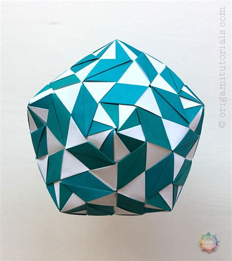tutorial origami origami money box kusudama comot