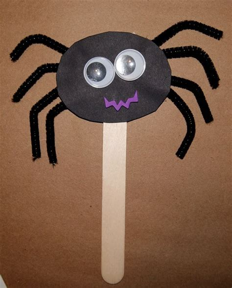 spider craft for spider puppet arts crafts ideas