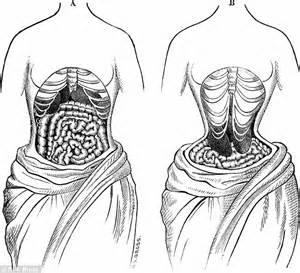 history of waist khloe wears tight corset following
