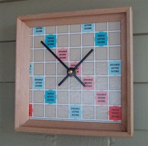 scrabble time clock scrabble board and racks upcycled time clock