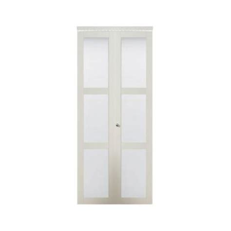 bifold closet doors home depot truporte 30 in x 80 50 in 3080 series 3 lite tempered
