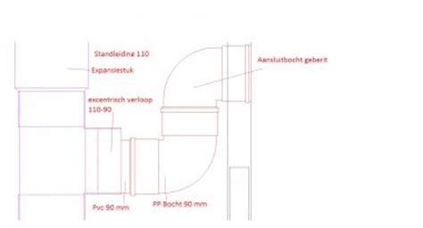 Zwevend Toilet Afvoer by Afvoer Hangend Toilet 90 Mm Op 110