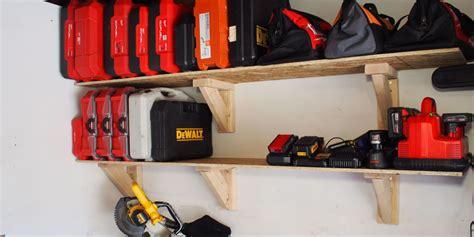 shelves for garage 20 diy garage shelves to meet your storage needs home