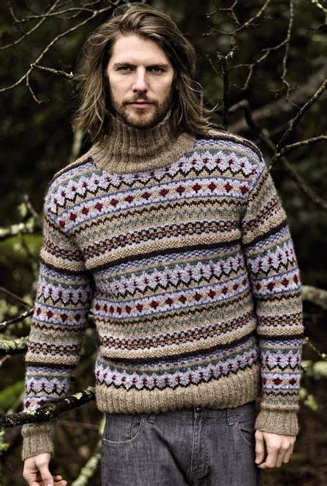 mens fair isle knitting patterns fair isle sweater in rowan lima autumn knits by rowan