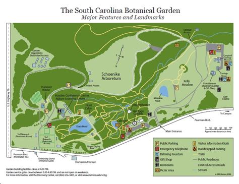 botanical gardens clemson sc clemson trail guide sc botanical garden