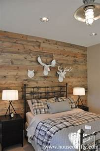 woodwork in bedroom wood accent wall country bedroom house of fifty
