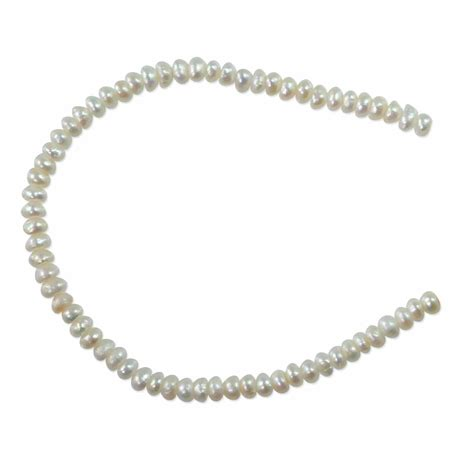 pearl jewelry supplies freshwater button pearl white 2 5 3mm sold by the strand
