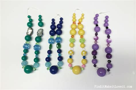 chunky bead necklaces diy chunky bead necklace find it make it it