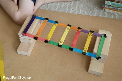 building crafts for 5 engineering challenges with clothespins binder