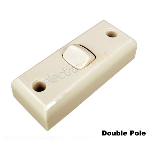 Single Pole Light Switch by Light Switch 1 Gang Architrave Double Pole 10a Deep Mount