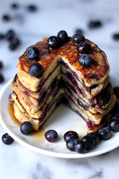 recipe blueberry pancakes the blueberry pancakes of your dreams baker by nature