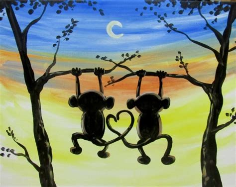 paint nite age paintnite at simonholt monkeys hangin out simonholt