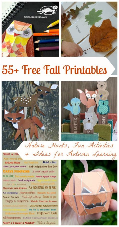 free fall crafts for 55 free fall printable crafts worksheets