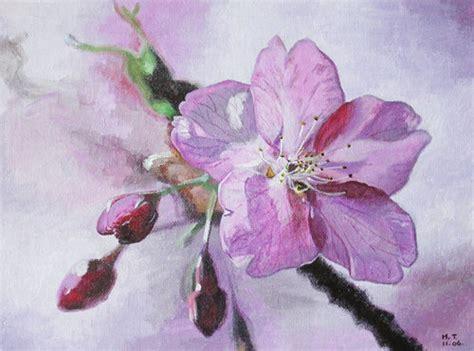 acrylic painting cherry blossom cherry blossom original acrylic painting on luulla