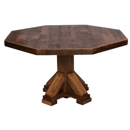 octagon dining room table colorado reclaimed wood octagon table