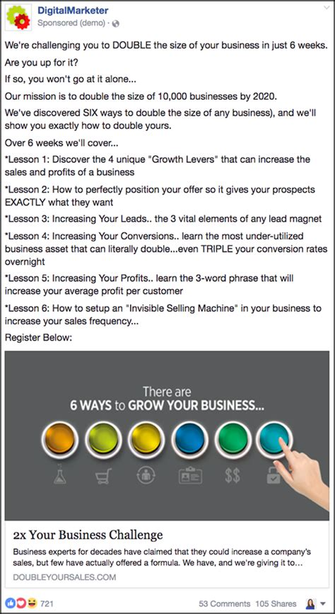 best facebook ads most effective facebook ad caigns digitalmarketer