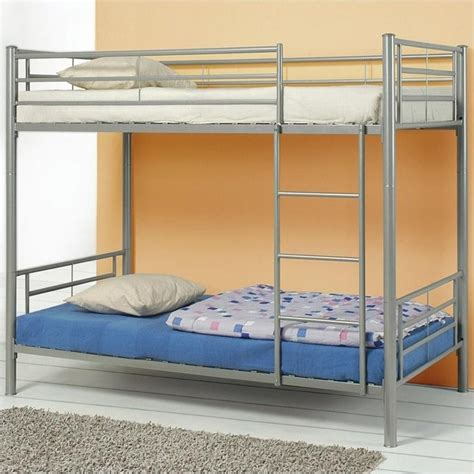 coaster bunk bed denley metal bunk bed in silver finish 4600x2