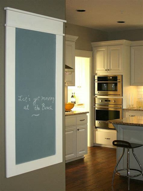 diy chalkboard for kitchen create a family message center hgtv