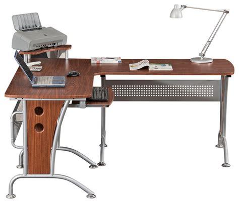 rta products techni mobili l shaped computer desk techni mobili l shaped computer desk in mahogany