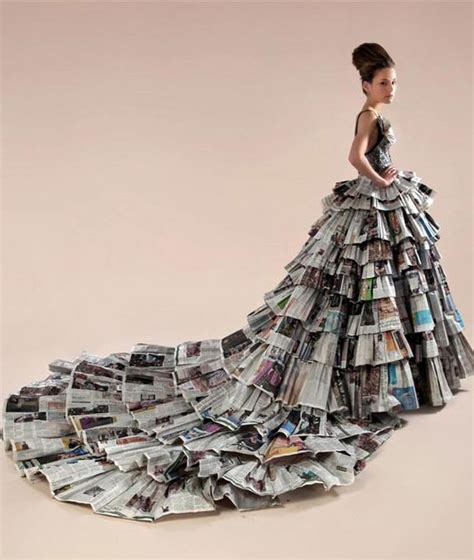 paper dress craft 20 creative newspaper craft fashion ideas newspaper