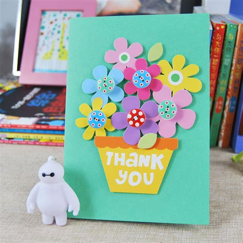 how to make childrens cards 立体感恩教师节贺卡diy手工制作材料包儿童生日新年春节手工礼物