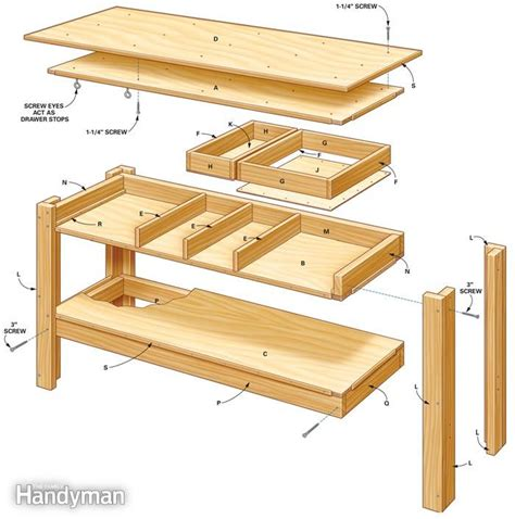 workbench plans pdf diy work bench table plans workbench plans nz