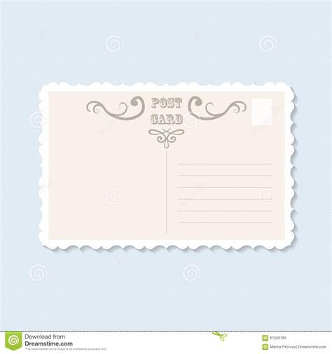 back side of postcard stock illustration image 61550765