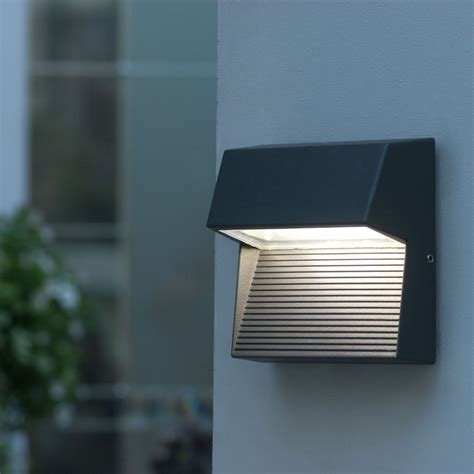 outdoor led lighting lutec lighting radius sp sq square cree led wall light at