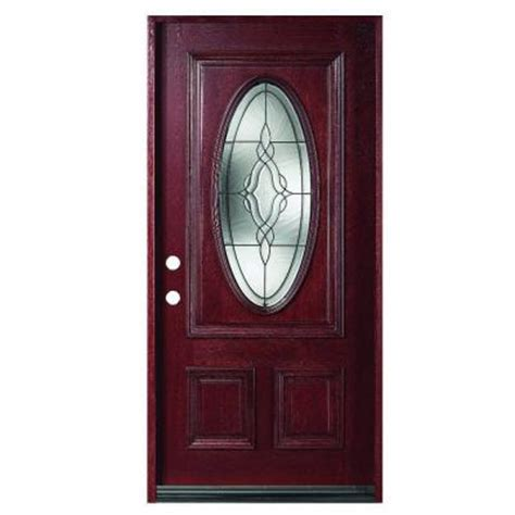 glass front doors home depot 36 in x 80 in solid mahogany type prefinished antique
