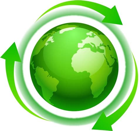 green world eco green world or america with arrows free vector