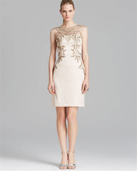 dress with beaded neckline sue wong dress cap sleeve illusion neckline beaded in