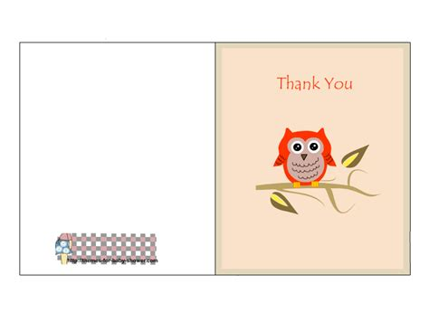 make free printable cards free printable owl baby shower thank you cards