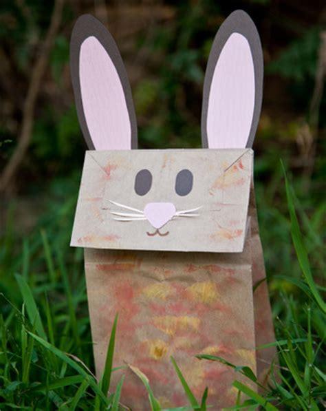 paper bag bunny craft make a bunny paper bag puppet activity education
