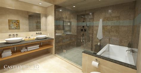 Spa Bathroom by Bath Architectural Renderings From Castleview3d