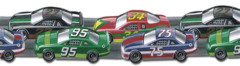 Race Car Wallpaper Border by Die Cut Wheels Race Car Wallpaper Border Jfm2830db Ebay