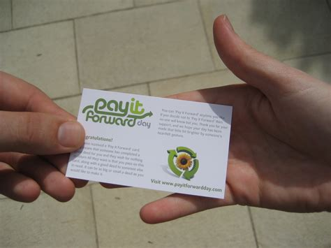 card stuff free stuff pay it forward day