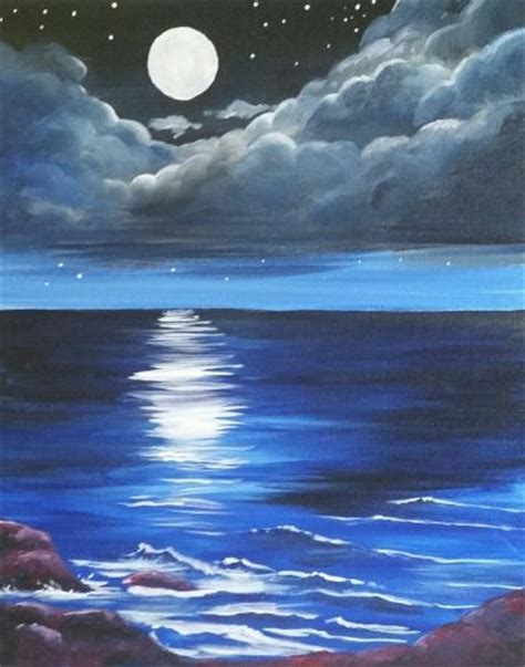 bob ross painting blue moon best 25 moon painting ideas on watercolor