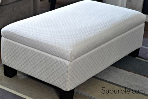 recovering an ottoman the no sew way to recover an ottoman suburble