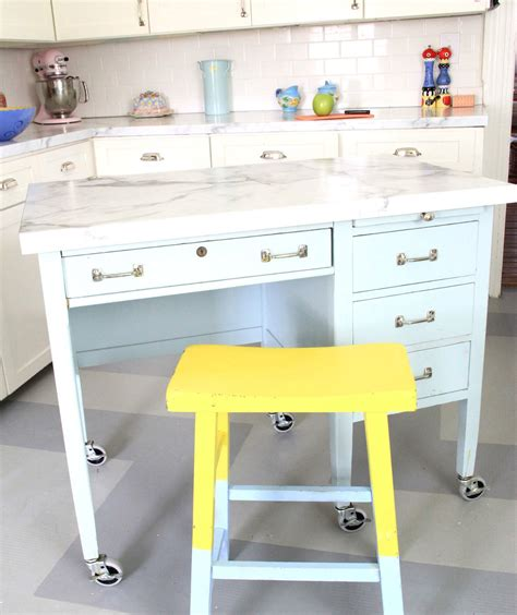 diy kitchen desk 7 diy kitchen islands to really maximize your space real