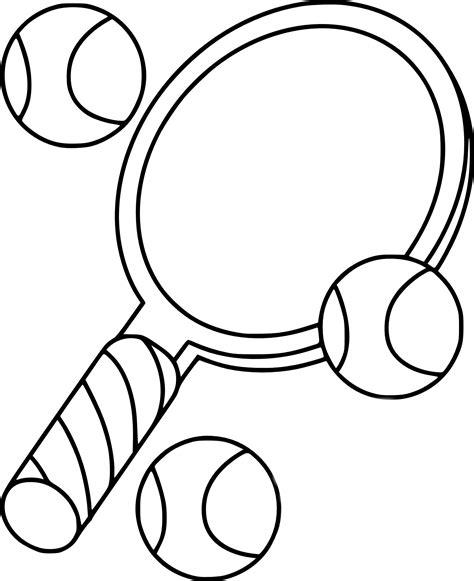 coloriage raquette de tennis 224 imprimer sur coloriages info