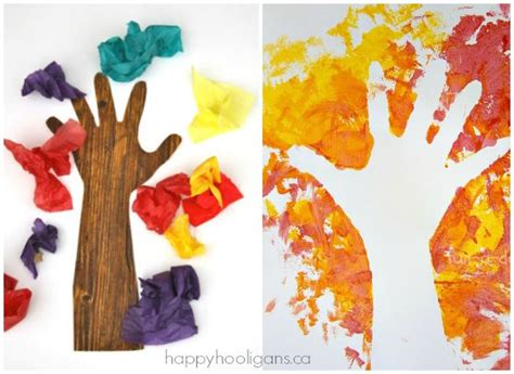 tree preschool craft 19 easy and adorable handprint crafts for fall happy