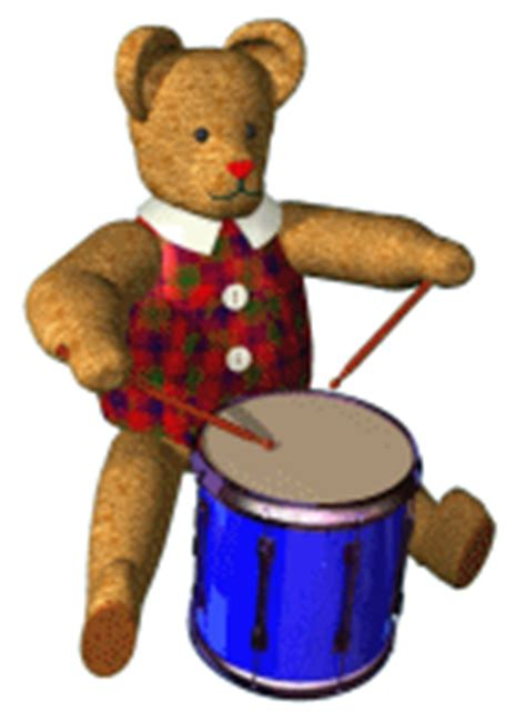 animated toys second marketplace drumming teddy