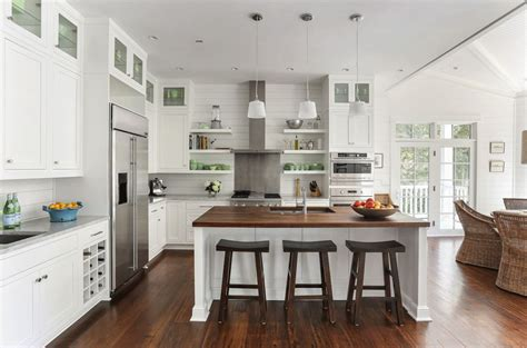L Shaped Kitchen Layout Ideas cottage kitchen with pendant light by diament builders