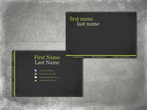 how to make front and back business cards in word business card front and back lilbibby