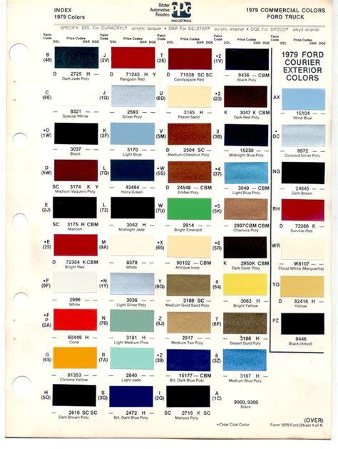 paint colors and codes auto paint codes 1978 79 bronco color codes