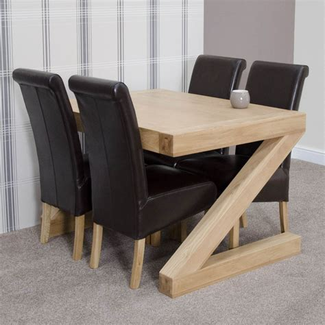 dining table and four chairs z solid oak designer furniture dining table and four