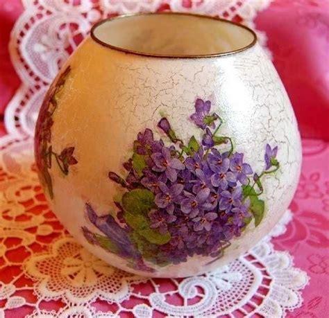 decoupage vase ideas decorated glass vase found on charlottesdesign