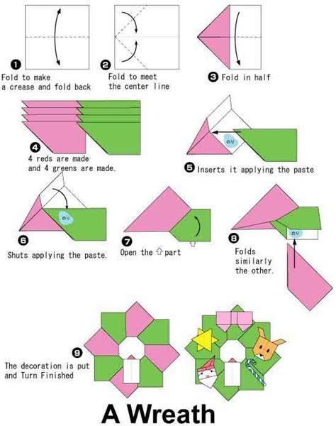 how to make a origami wreath origami wreath tutorial